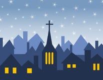 Silhouettes d'église et de Chambre Image libre de droits