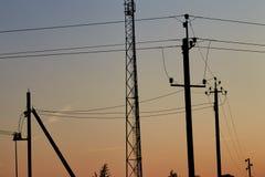 Silhouettes d'électro courriers Photo libre de droits