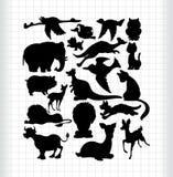 Silhouettes d'animaux Photo libre de droits