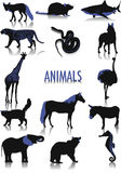 Silhouettes d'animaux illustration stock