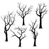 Silhouettes d'arbre illustration libre de droits
