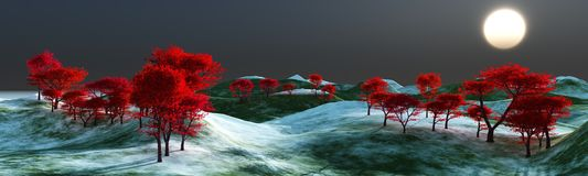 Silhouettes d'arbre Image libre de droits