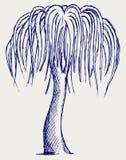 Silhouettes d'arbres. Type de griffonnage Images libres de droits