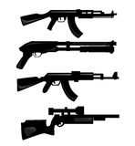 Silhouettes d'arme Photographie stock libre de droits