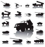 Ensemble d'artillerie illustration stock