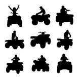 Silhouettes d'ATV Photographie stock