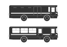 Silhouettes d'autobus Image libre de droits