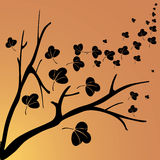 Silhouettes d'automne Image stock