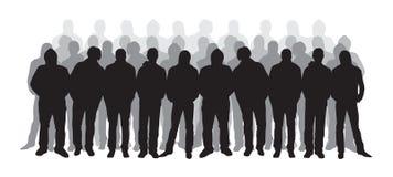 Silhouettes d'hommes illustration de vecteur