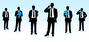 Silhouettes d'hommes d'affaires Images stock