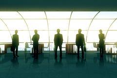 Silhouettes d'hommes d'affaires Photos libres de droits
