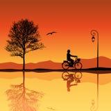 silhouettes d'horizontal Photos libres de droits