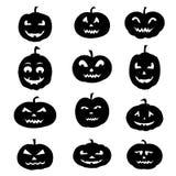 Silhouettes d'icônes de Halloween Image libre de droits
