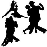 Silhouettes Dance 02 Stock Photos