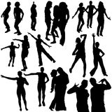 Silhouettes Dance 07 Royalty Free Stock Images