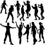 Silhouettes Dance 08. High detailed vector illustration vector illustration