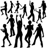 Silhouettes Dance 09 Stock Image