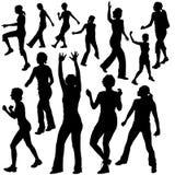 Silhouettes Dance 09. High detailed vector illustration stock illustration