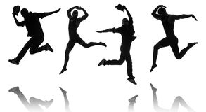 Silhouettes of dancers in dancing concept Stock Image
