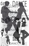 Silhouettes of dancing people Stock Photo