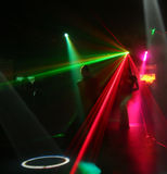 Silhouettes of dancing teenagers. Dancing people in an underground club Royalty Free Stock Images