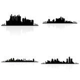 Silhouettes de bâtiment illustration stock