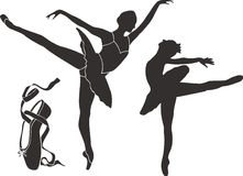 Silhouettes de ballet Photos stock