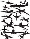 Silhouettes de Boeing 707 illustration de vecteur