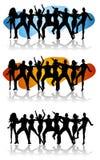Silhouettes de célébration de réception de danse illustration stock