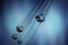 Silhouettes de carrousel Images libres de droits