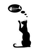 Silhouettes de chat Image libre de droits
