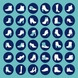 Silhouettes de chaussures - illustration Photographie stock
