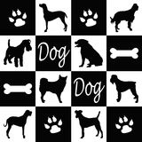 Silhouettes de chien Photos stock