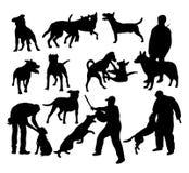Silhouettes de chien illustration de vecteur