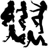 Silhouettes de Childs Images libres de droits