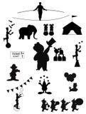 Silhouettes de cirque Image stock