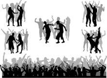 Silhouettes de danse - grande collection photo libre de droits