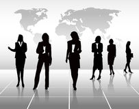 Silhouettes de femme d'affaires Image libre de droits