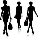 Silhouettes de femmes de mode Images libres de droits