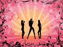 Silhouettes de filles illustration stock