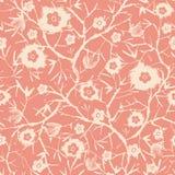 Silhouettes de floraison de branches Painted sans couture Image stock