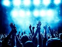 Silhouettes de foule de concert Photo libre de droits