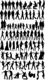 Silhouettes de gens illustration de vecteur