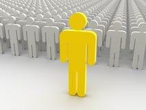 silhouettes de gens Image stock