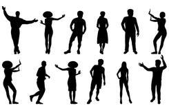 silhouettes de gens Photo libre de droits