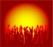 Silhouettes de gens de danse Photos libres de droits