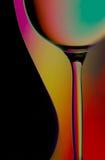 Silhouettes de glace de bouteille et de vin Images libres de droits