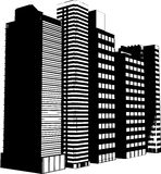 Silhouettes de gratte-ciel Images stock