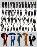 silhouettes de l'homme d'affaires s Image libre de droits