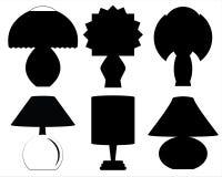 Silhouettes de lampes de décoration Image libre de droits